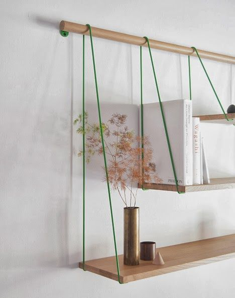 love these layered shelves.
