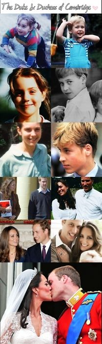 Duke and Duchess of Cambridge, young Prince William & Kate Middleton
