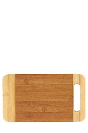 "Rectangular bamboo chopping board with handy cut out handle.<div class=""pdpDescContent""><BR /><b class=""pdpDesc"">Dimensions:</b><BR />L26 cm</div>"