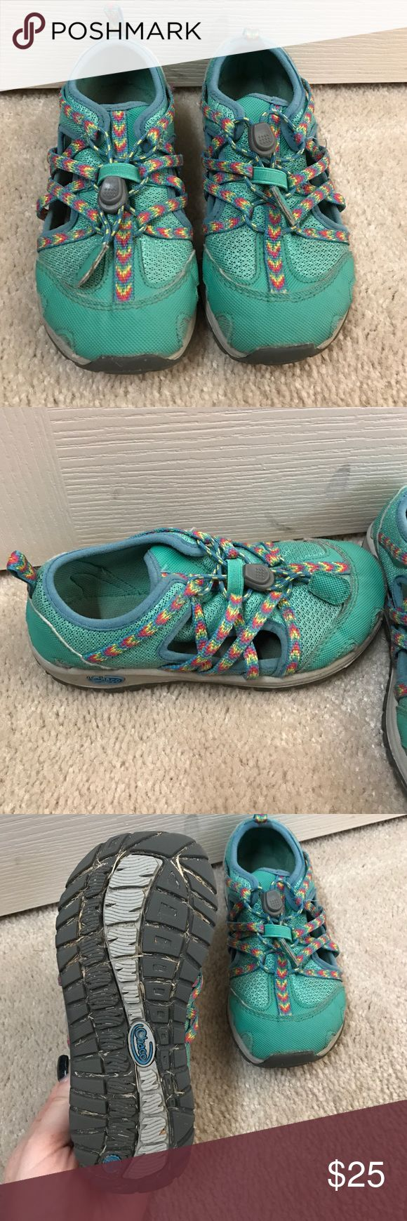 Chaco Outcross toddler girls shoes Size 12 toddler Chaco Outcross shoes. Awesome shoes for the summer. Waterproof and kids can put them on themselves. Only worn one season. Chaco Shoes Sandals & Flip Flops