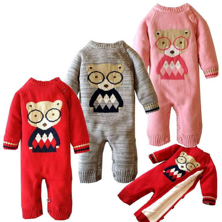 >> Click to Buy << Plus Velvet Baby Rompers Winter Cotton Bear Pattern Baby Clothing 0-2 Years Newborn Infant Girls Costume Warm Toddler Clothes #Affiliate