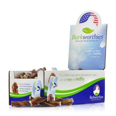barkworthies odor free twisted american 6 natural bully sticks 45ct popular dog chews and. Black Bedroom Furniture Sets. Home Design Ideas