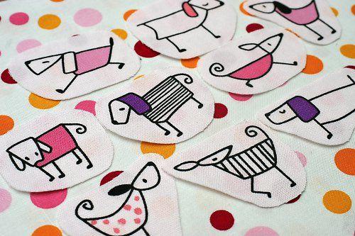 Fashion dogs pink - nažehlovací obrázky