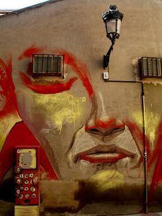Street art Spain, Albaicin Quarter, Granada