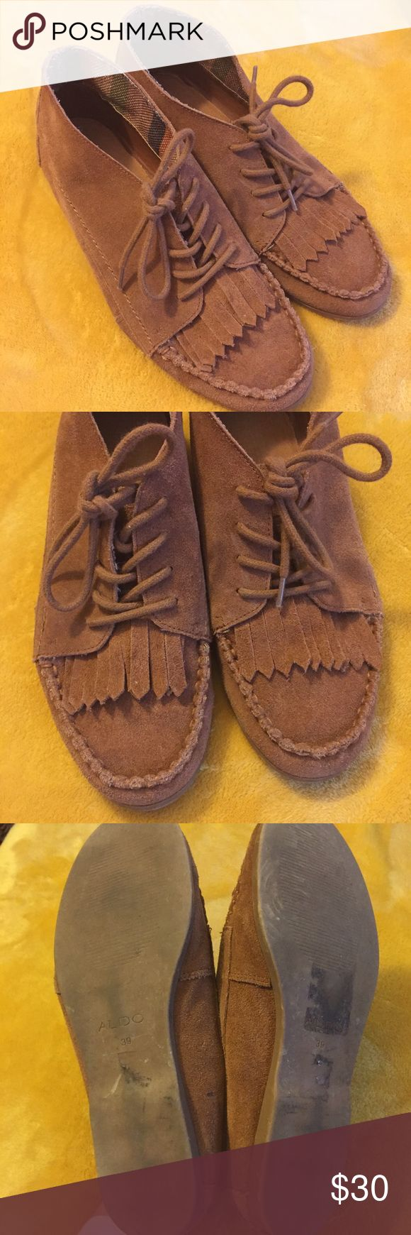 Vintage suede Aldo hipster lace-up moccasins Vintage suede Aldo hipster lace-up moccasins, super cute! Good vintage condition. Bottom is labeled size 39 (fits a modern size 8) Vintage Shoes Moccasins