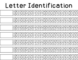 Free data sheets for letter and sound identification