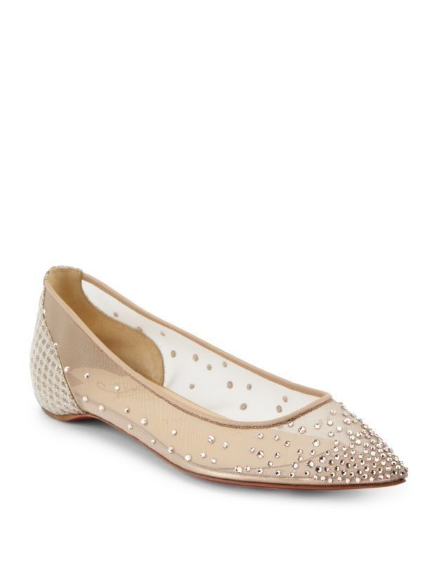 b81241f70adf FOLLIES BALLET FLAT - Christian Louboutin Wedding Shoes  Luscious Red Sole  Designs www.loveandlavend.