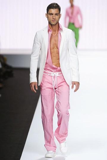 I am a huge fan of guys in pink....it's so cute. Love it! SS 2012