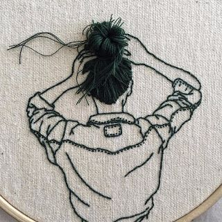 Tina's handicraft : 6  ideas strange embroidery for wall decoration