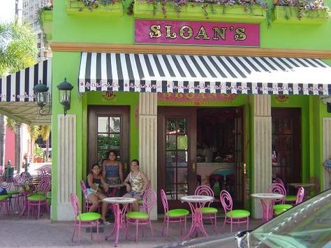 Sloan's ice cream, West Palm Beach. Off the island, but nearby. The most whimsical ice cream shop you'll find anywhere. Brings feelings of nostalgia for what you thought an ice cream shop was suppose to be.