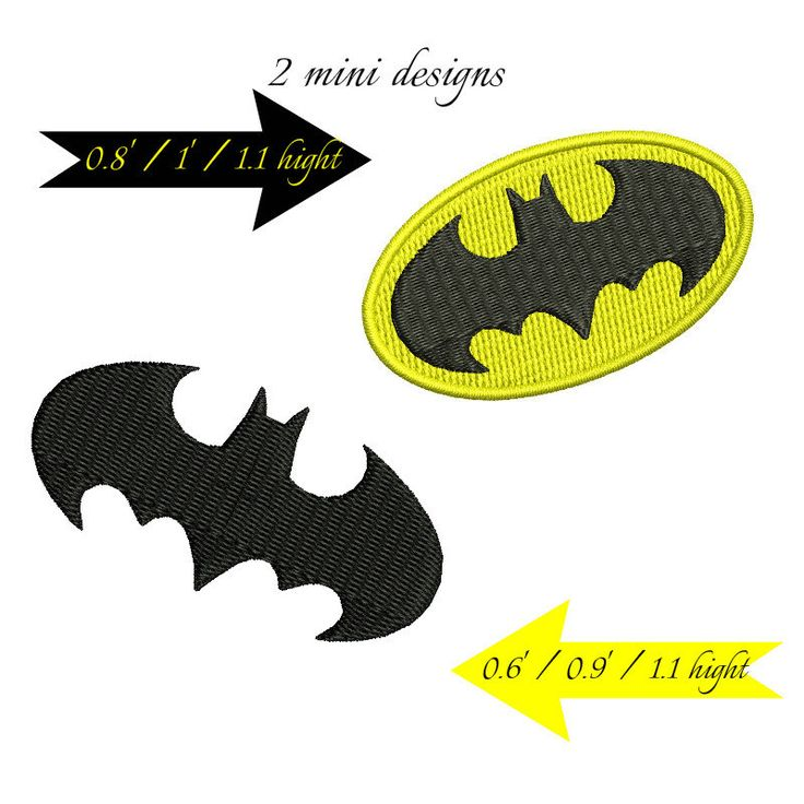 Mini Batman embroidery designs digital download machines superheroes pattern by GretaembroideryShop on Etsy