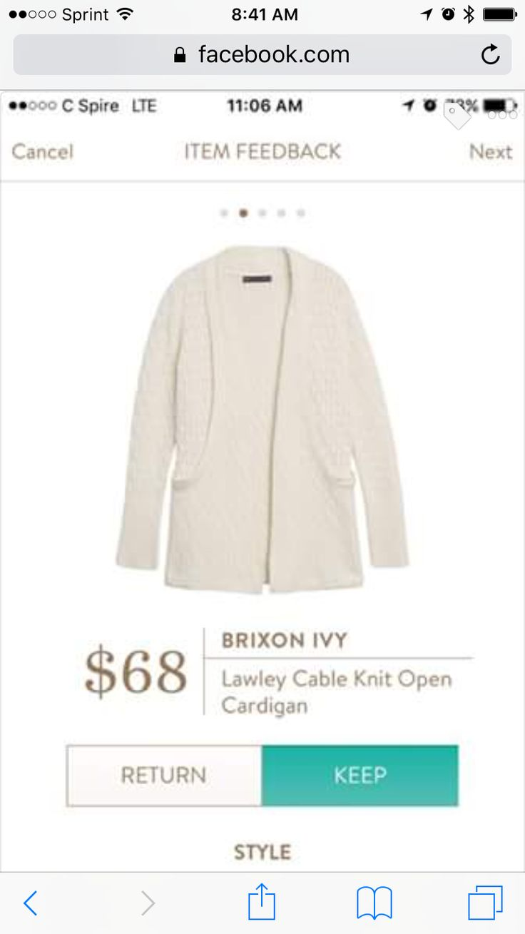 Brixon Ivy Cable Knit Open Cardigan - I received this on my last fix and I LOVE…