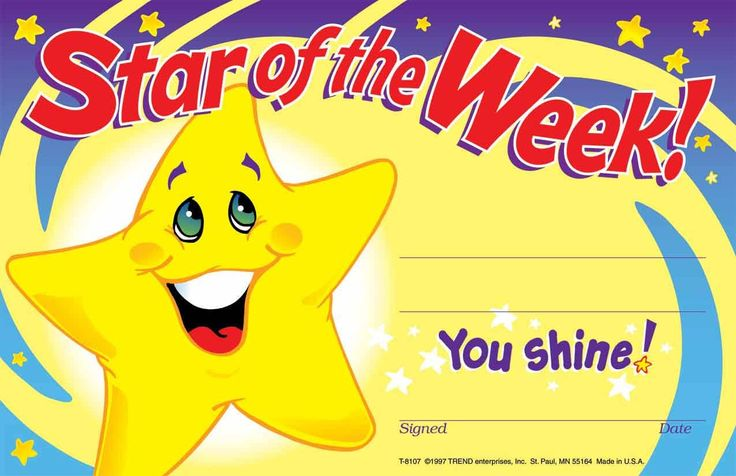 Reward progress and achievement with these cheerful Star of the week certificate awards kids will be proud to take home.