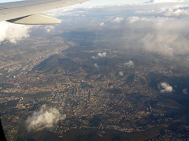 Flug über Stuttgart
