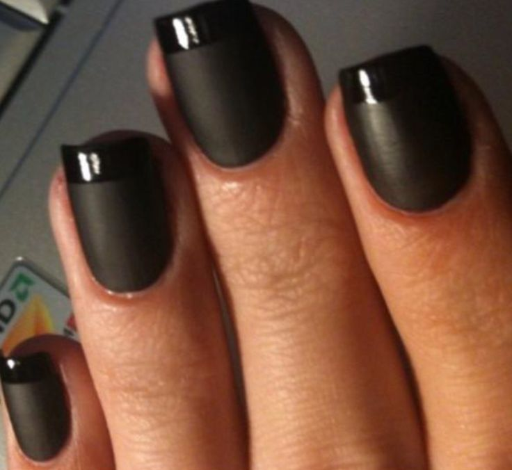 NAIL TREND: The Reversed French Manicure!  Source:  http://www.modernsalon.com/features/hair-beauty/The-Reversed-French-Manicure-170566346.html