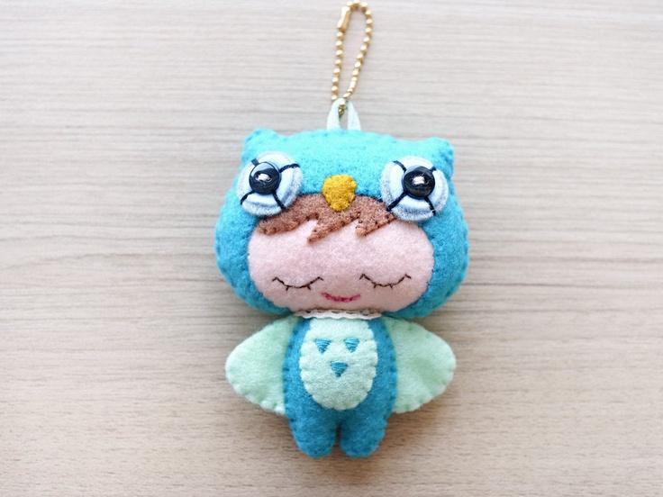 Felt Owl Keychain -  Valentines gifts -  cute accessories -  Kawaii - owl plush - READY TO SHIP. $19.00, via Etsy.