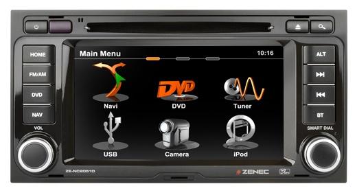 #Zenec ZE-NC2051D - Pasklare navigatie oplossing voor #VW T5. Veel beter en uitgebreider dan het originele #Volkswagen navigatie systeem. Het eerste toestel pasklaar voor VW #T5 waarbij al uw originele functies behouden blijven zoals stuurbediening, OPS en climatronic display.