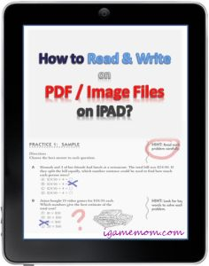 How to Read and Write on PDF or Image Files on iPAD - with a free app, you don't have to print out those worksheets on paper anymore.  Kids can do it paperless (on iPAD) #iPAD #Tips #parenting