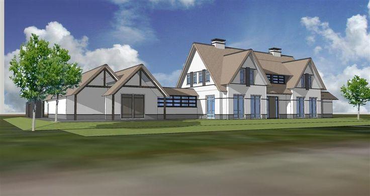 Witte villa met rieten dak arend groenewegen architect bna buitenwonen pinterest met - Renovatie hout ...