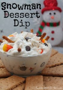 Fun party dip that looks like a melted snowman... ~Frozen~ in the Summer