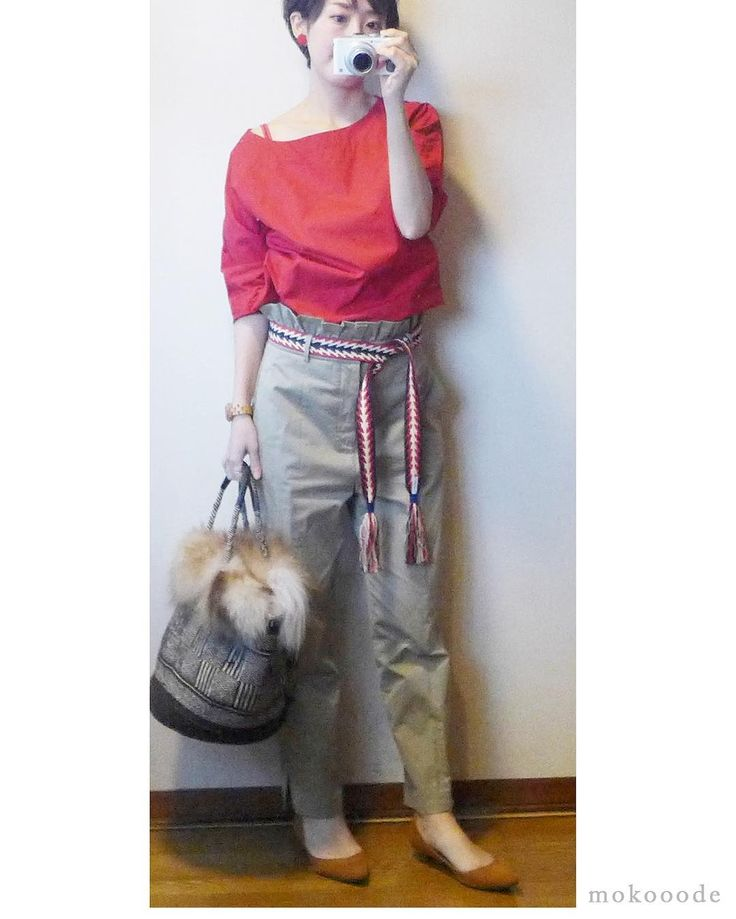 2年前のユニクロのブラウス #ブラウス #uniqlo #パンツ #zara #カゴバッグ #compilation #パンプ #menue #ザラジョ #ユニクロ #プチプラコーデ #大人ファッション #シンプルコーデ #今日の服 #コーディネート #outfit #ootd #fashion #red