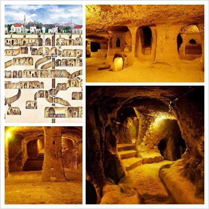 Derinkuyu Underground City, Cappadocia, Nevsehir Province, Turkey Derinkuyu Yeraltı şehri, Kapadokya Nevşehir ilinin