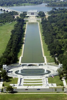 National Mall and reflecting pool in DC - spent many a day wandering this place.  Family loves it too.