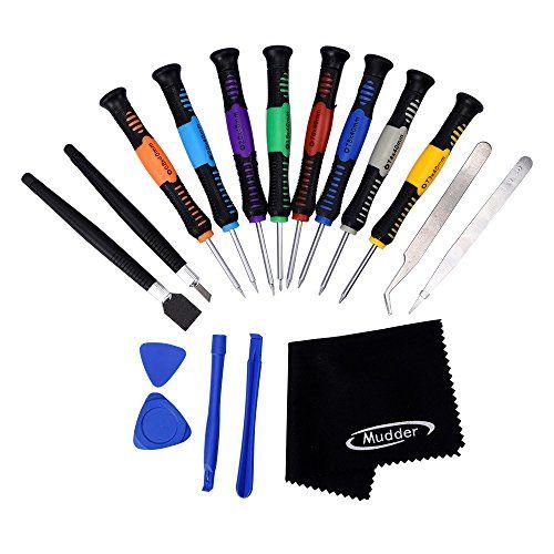 Mudder 18 in 1 Smartphone Reparatur �ffnungs Werkzeug Kit Schraubendreher Set f�r iPhone, Samsung, Xiaomi, Huawei, HTC und iPad