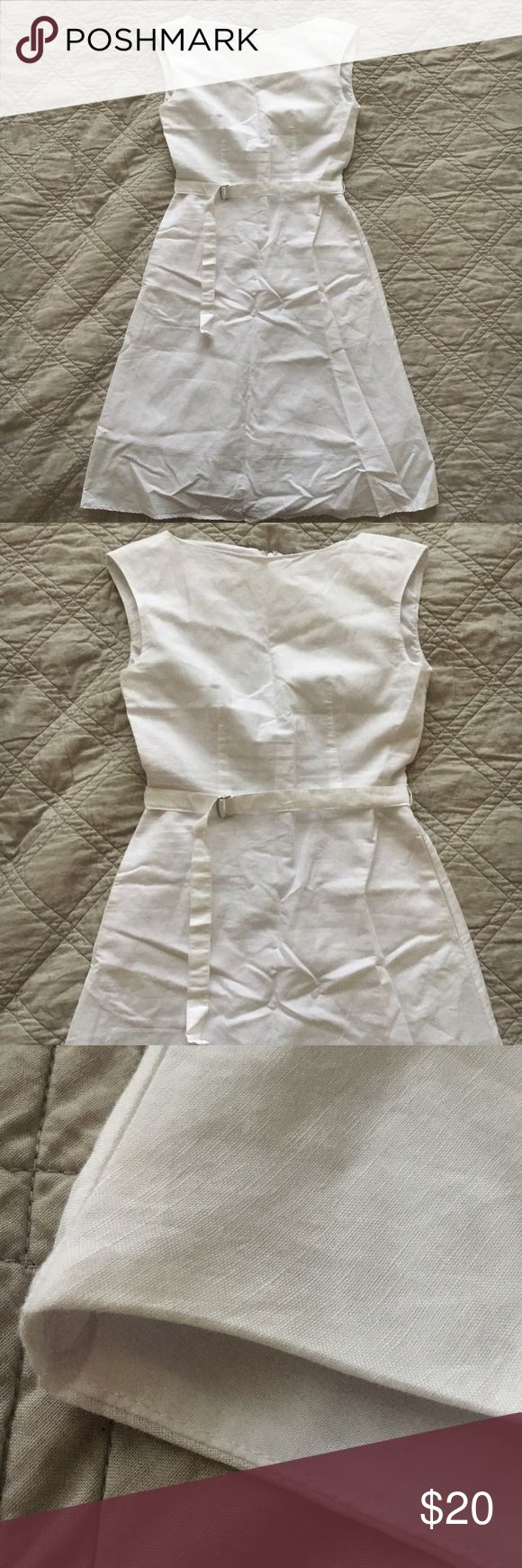 NWT! Uniqlo White Linen Dress I am selling this white linen dress from Uniqlo, size XS. Very pretty, flattering and good quality. Fully lined! The retail price is $39.90 and I got it on sale for $24.90. Brand New!!! But the chest is too small for me so I'm selling it. The measurements and composition are on the tag. Ask if you have more questions! 💕 Uniqlo Dresses Midi