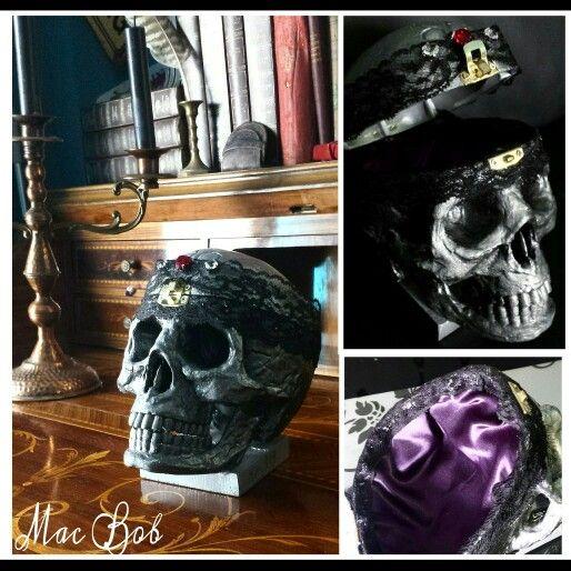 Skull box jewelry gothic dark