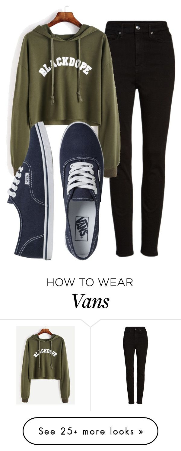"""Untitled #542"" by ria-c on Polyvore featuring Good American and Vans"