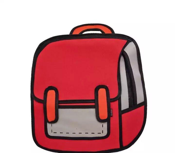 25 Gambar Kartun Tas Ransel Fashion Kreatif Wanita 2d Ransel Bergambar 3d Melompat Gaya Kartun Tas Sekolah Download Anak Laki Laki Bags Backpacks Fashion