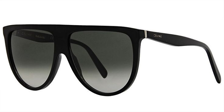 New Celine THIN SHADOW CL 41435/S 807/XMA black/green shaded Sunglasses #Celine #Oversized
