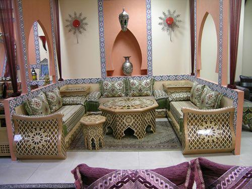 Photos de salons marocain salon marocain salons and for Decoration orientale salon