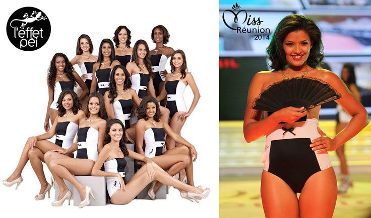 Les candidates à Miss Réunion, ainsi qu'Ingreed Mercredi Miss Réunion 2014 en maillot de bain L'effet Péi – Photos : 7 Magazine