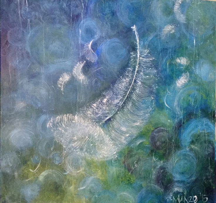 Our feather returns by command performance. Painted in the studio as a commission. 120cm x 120cm $895