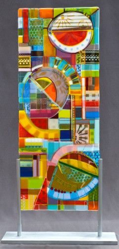 When every color is your favorite- Off the Grid #2, 2013; kiln formed glass panels