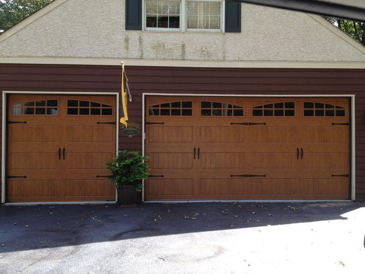 Clopay Garage Doors In Ultra Grain Medium Oak Finish Wood Garage Doors Wood Garage Doors Garage Design