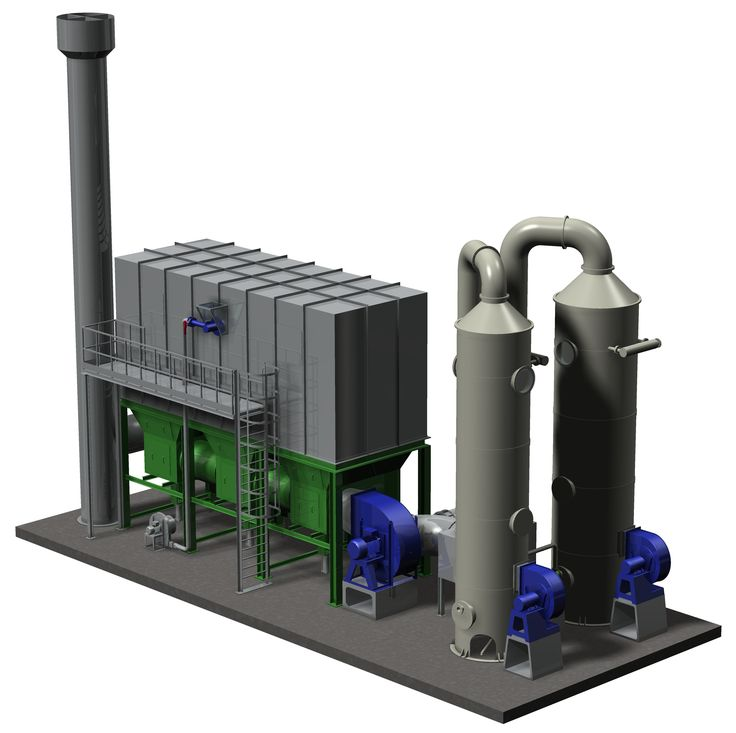 We have finished to design this stripping system to purify water, and to burn the pollutants stripped on a Regenerative Thermal Oxidizer (RTO).