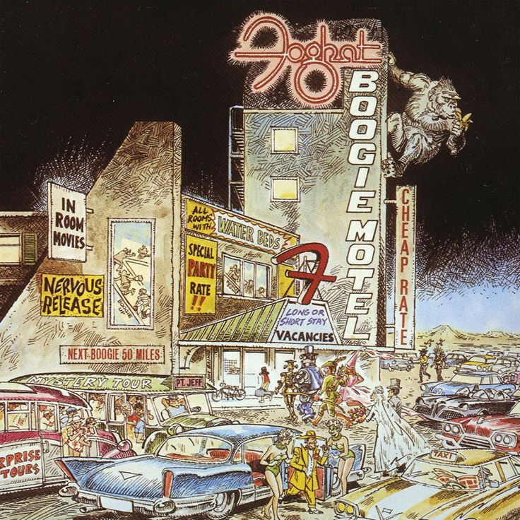 Foghat Boogie Motel vinyl LP (With images) Rock album