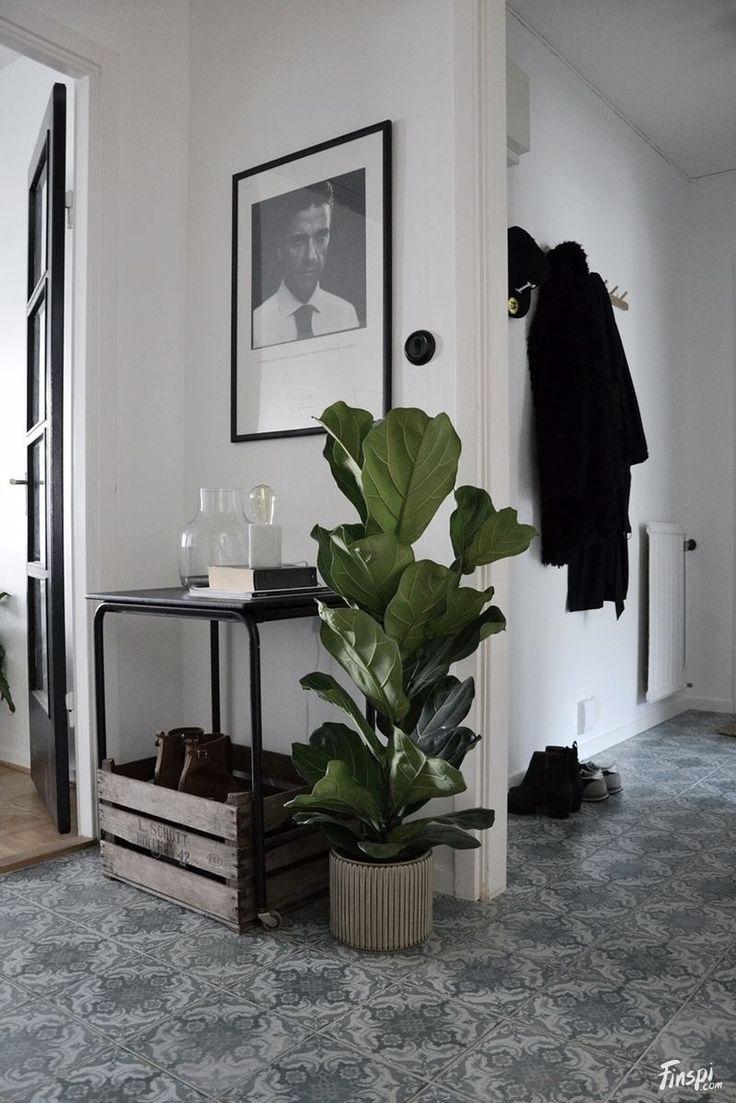 Inspiratieboost: een statement bij binnenkomst met een grote plant - Roomed