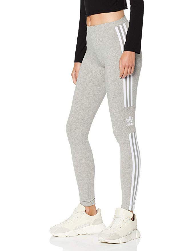 adidas Damen Trefoil Leggings Sporthose Fitnesshose Streetwear Tight Hose