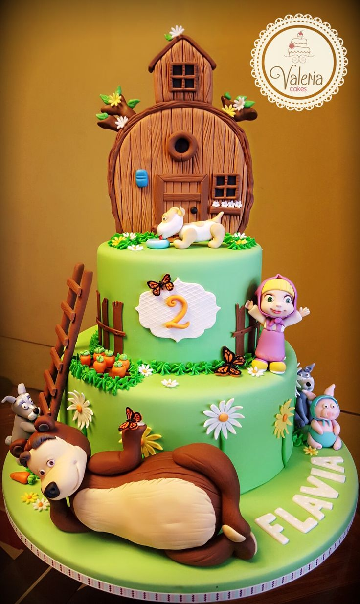 Masha and the bear cake! ❤️ / Torta pastel de Masha y el oso