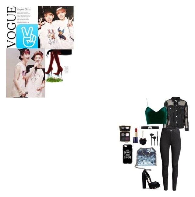 """""""baekhyun-luhan"""" by chanbaek614 ❤ liked on Polyvore featuring Topshop, H&M, STELLA McCARTNEY, CYLO, LC Lauren Conrad, Casetify, Ruifier, Estée Lauder and GET LOST"""