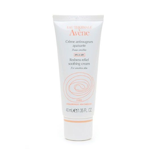 """""""I really like the Avene line because it is designed specifically for people with redness and rosacea. It's hypoallergenic, noncomedogenic, and soothing (thanks to the thermal spring water that it contains),"""" says Ava Shamban, M.D., dermatologist and author of Heal Your Skin. Try: Avene Antirougeurs Redness Relief Soothing Cream, $36"""