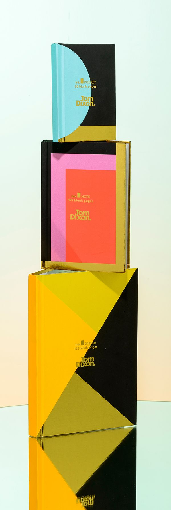 Ink products comprise crisp, gold-edged papers in a hardback binding, with a geometrically patterned cover. The Ink Pocketbook comes free with this selection of bright, bold blank Ink notebooks for writing, sketching and general jotting.