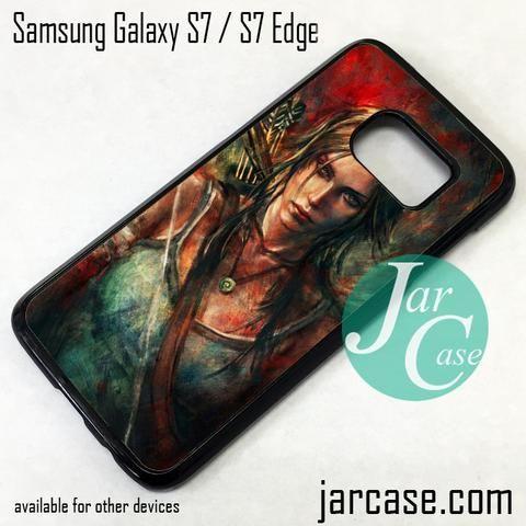 Tomb Rider Lara Croft Art Phone Case for Samsung Galaxy S7 & S7 Edge