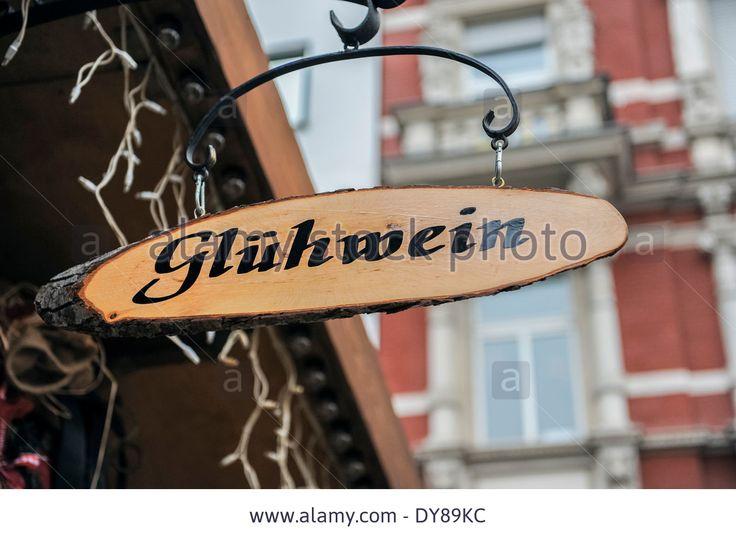 gluhwein sign christmas market koblenz germany stock photo german signage pinterest. Black Bedroom Furniture Sets. Home Design Ideas