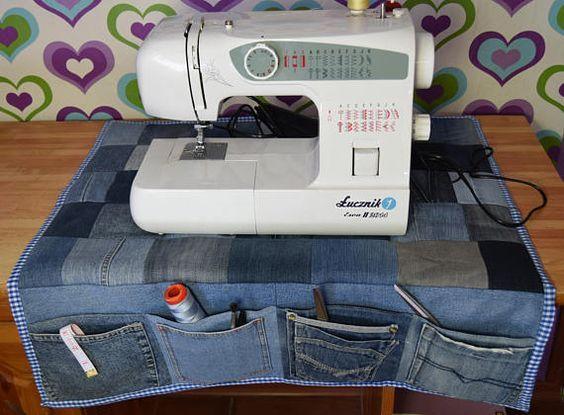 Sewing Machine Organizer Desk Organizer Denim Organizer