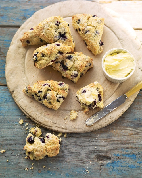 Blueberry-Buttermilk Scones - Martha Stewart Recipes: Scone Recipes, Sweet, Food, Blueberry Buttermilk Scones, Scones Recipe, Martha Stewart, Blueberries, Blueberry Scones, Baby Shower